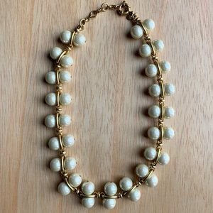 """J. Crew Pearl Statement Necklace, 18-21"""", Exc Cond"""